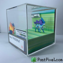 Load image into Gallery viewer, Pokemon Art Typhlosion vs Legendary Beasts Cube pastpixel