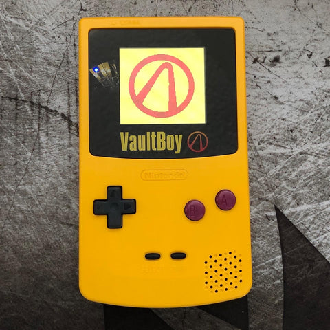 GameBoy Color - Backlit VaultBoy Custom Borderlands Console