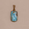 Larimar Necklace - Medium Stone