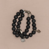 Lava Stone Essential Oil Double Bracelet