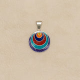 Colorful Sterling Silver Pendant