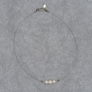 Triple Pearl Necklace Cable