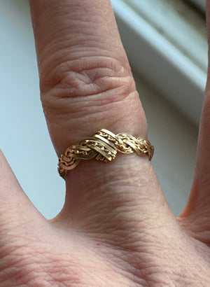 Gold Braided Ring