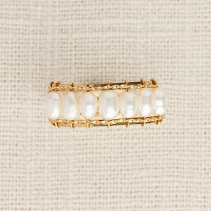 Biwa 10K Ring - White