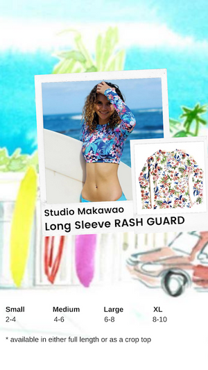 Studio Makawao Long Sleeve Crop Rash Guard
