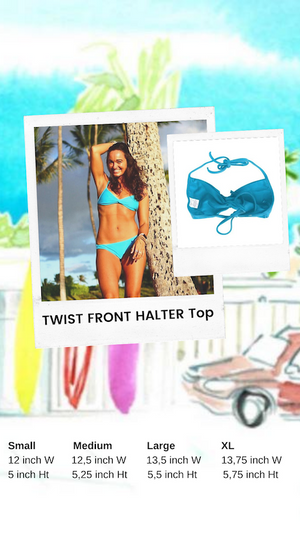 Twist Front Halter Top