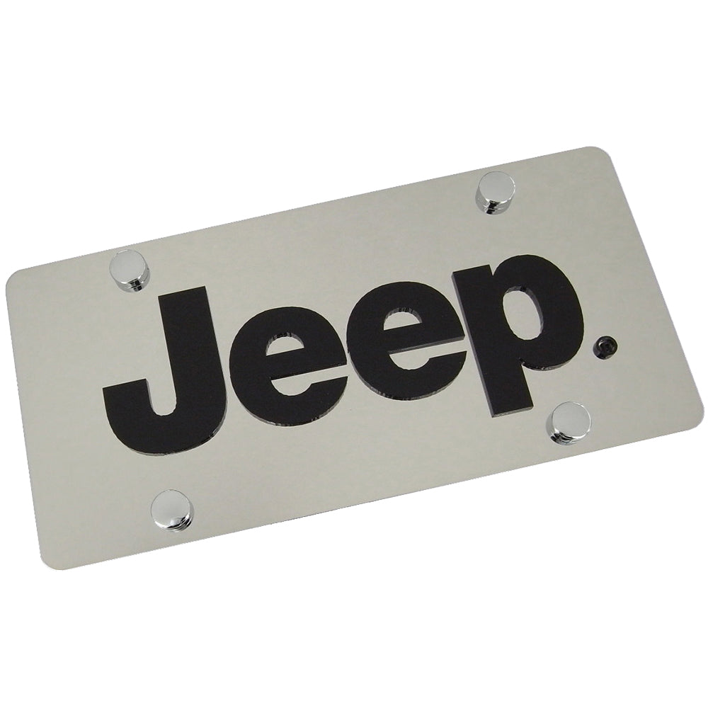 Jeep License Plate (Chrome) - Custom Werks