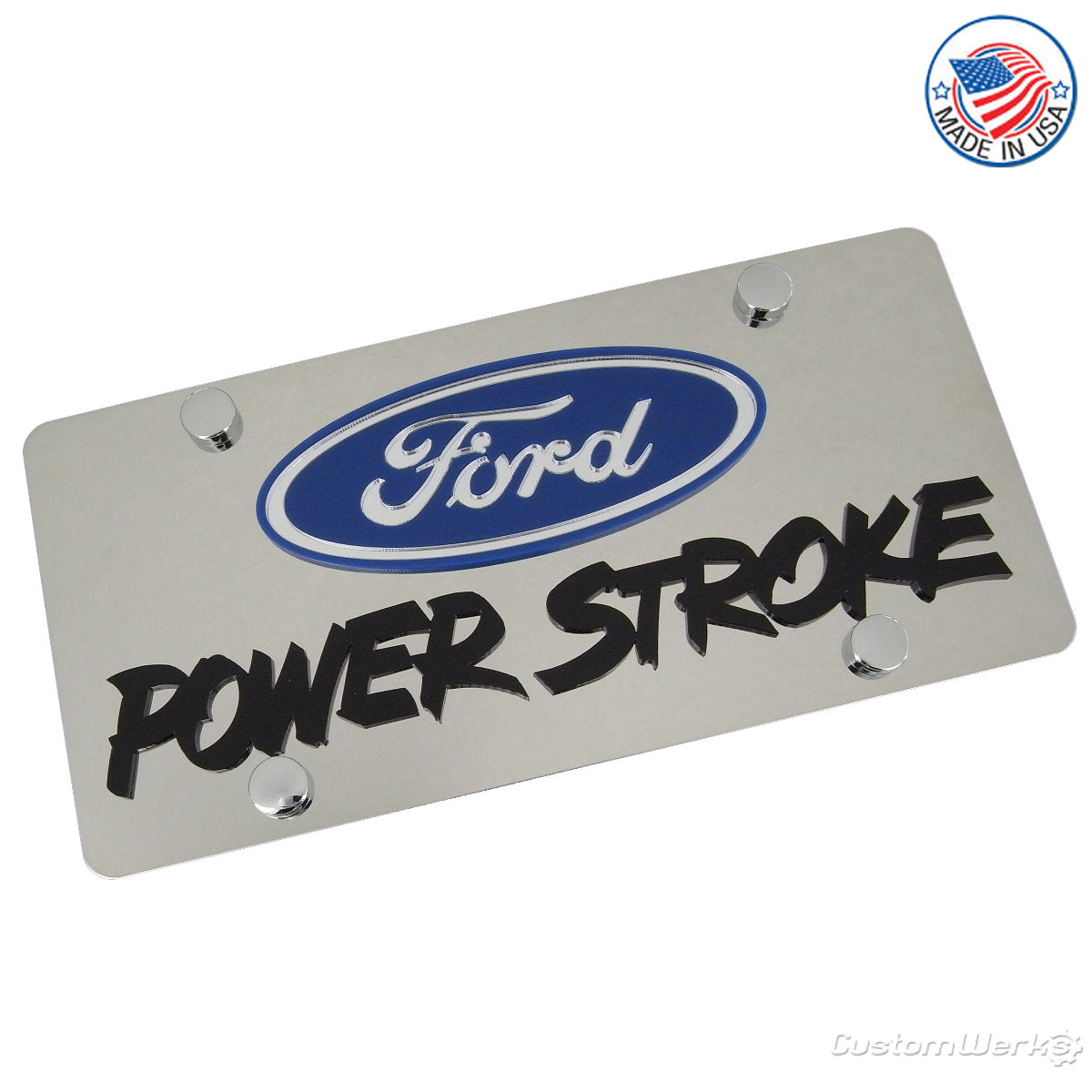 Ford Power Stroke Logo Plate