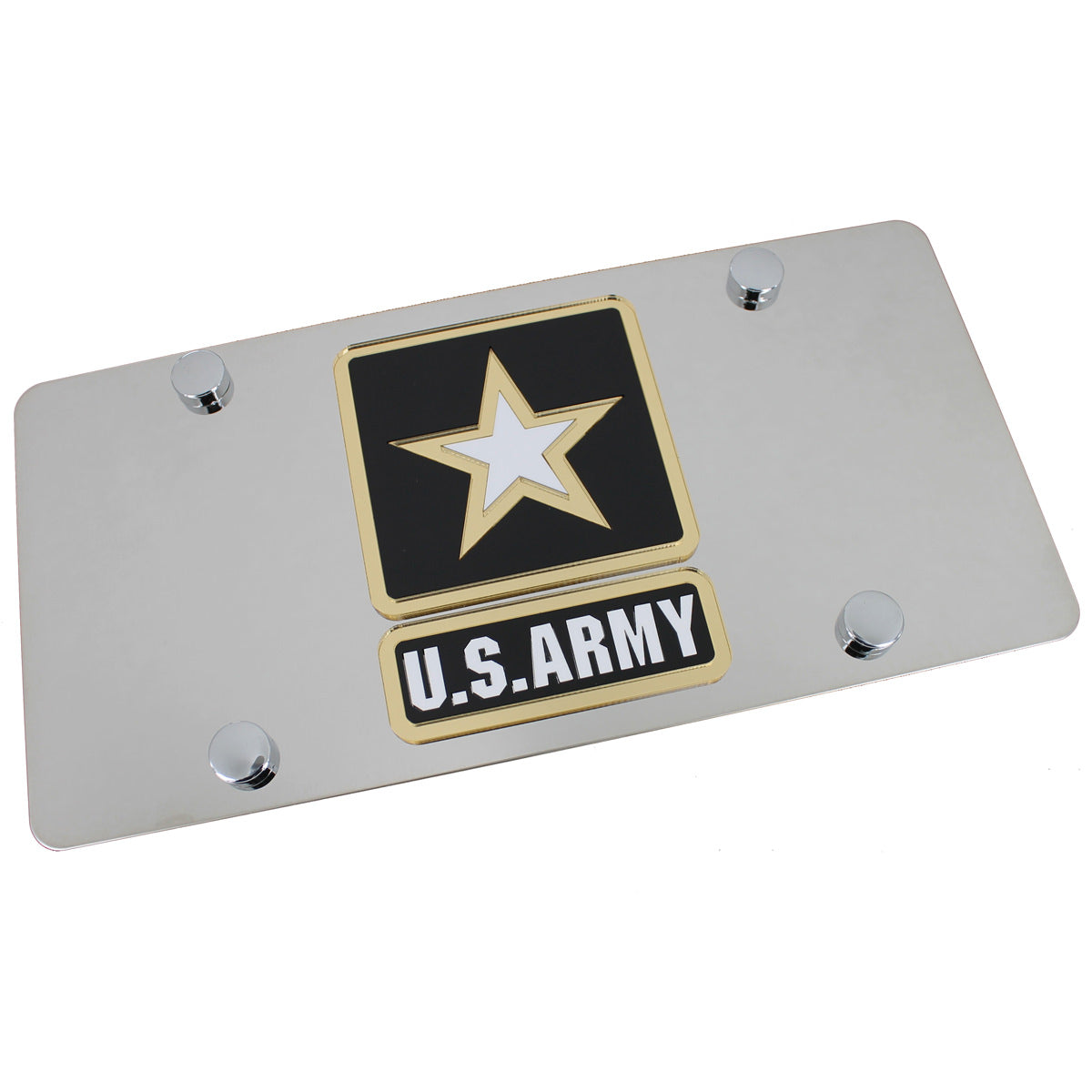 US Army Logo License Plate (Chrome) - Custom Werks