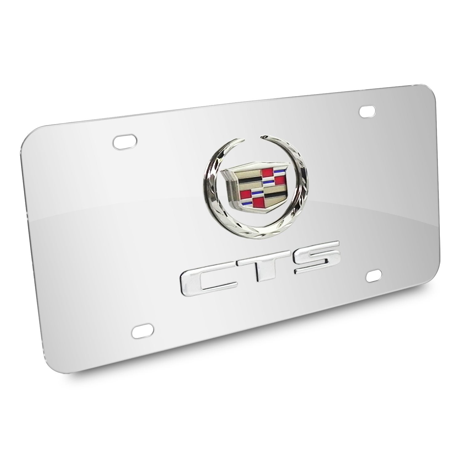 Cadillac Dual Logo CTS License Plate (Chrome) - Custom Werks