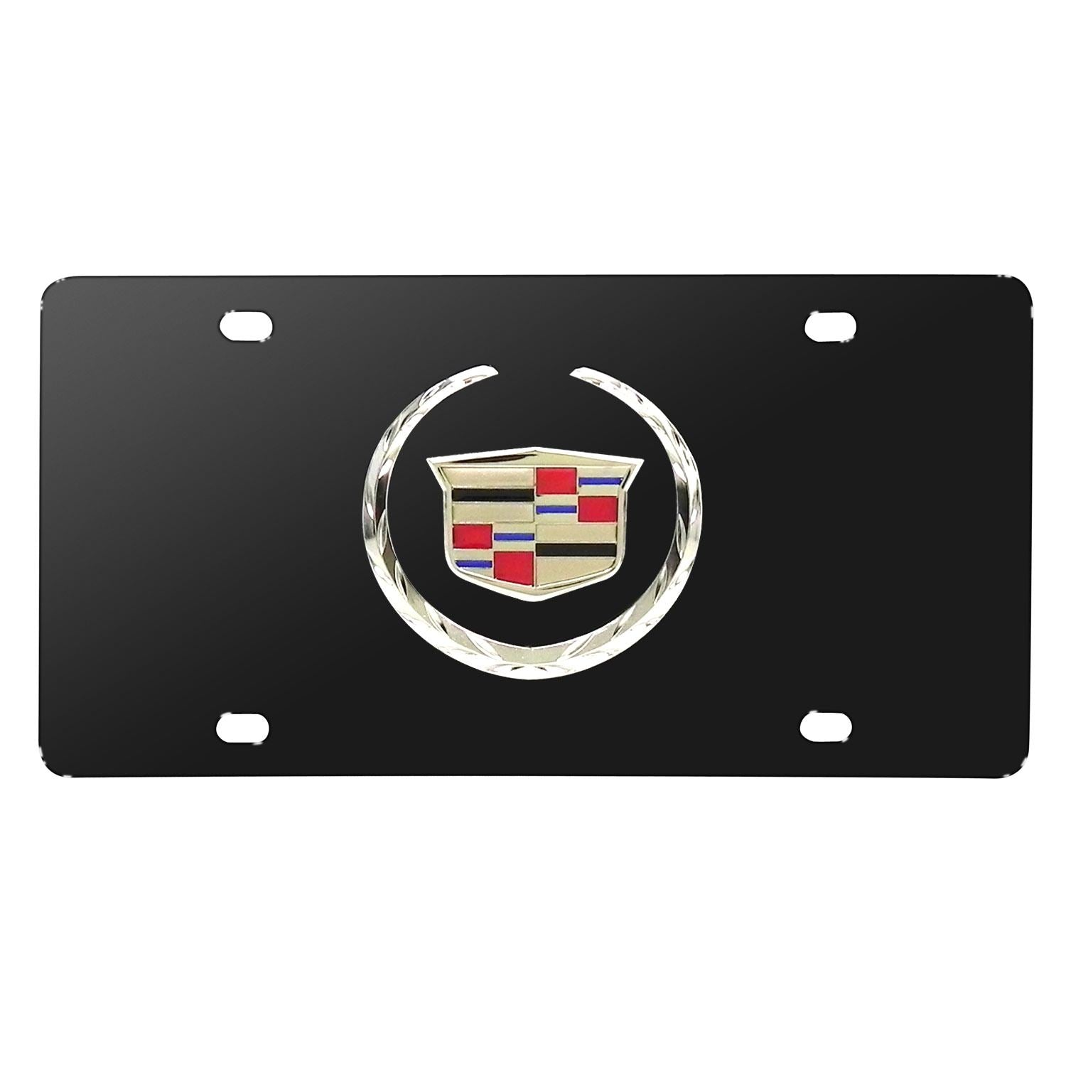 Cadillac Chrome Logo License Plate (Black) - Custom Werks