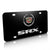 Cadillac Dual Logo SRX License Plate (Chrome on Black)
