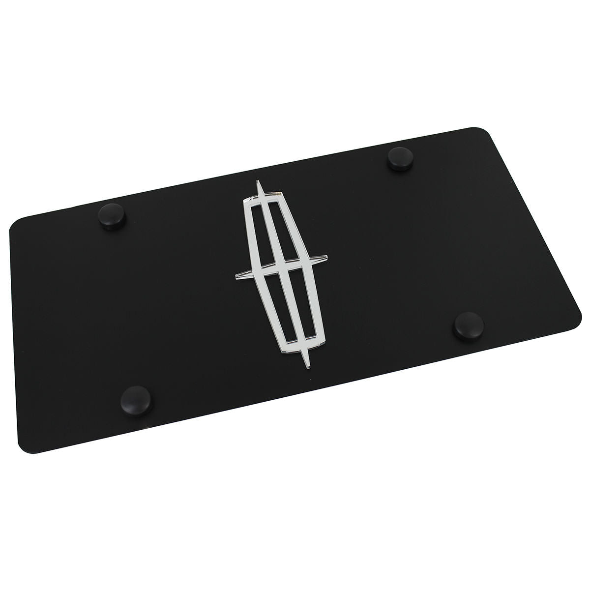 Lincoln Logo License Plate (Black) (Black) - Custom Werks
