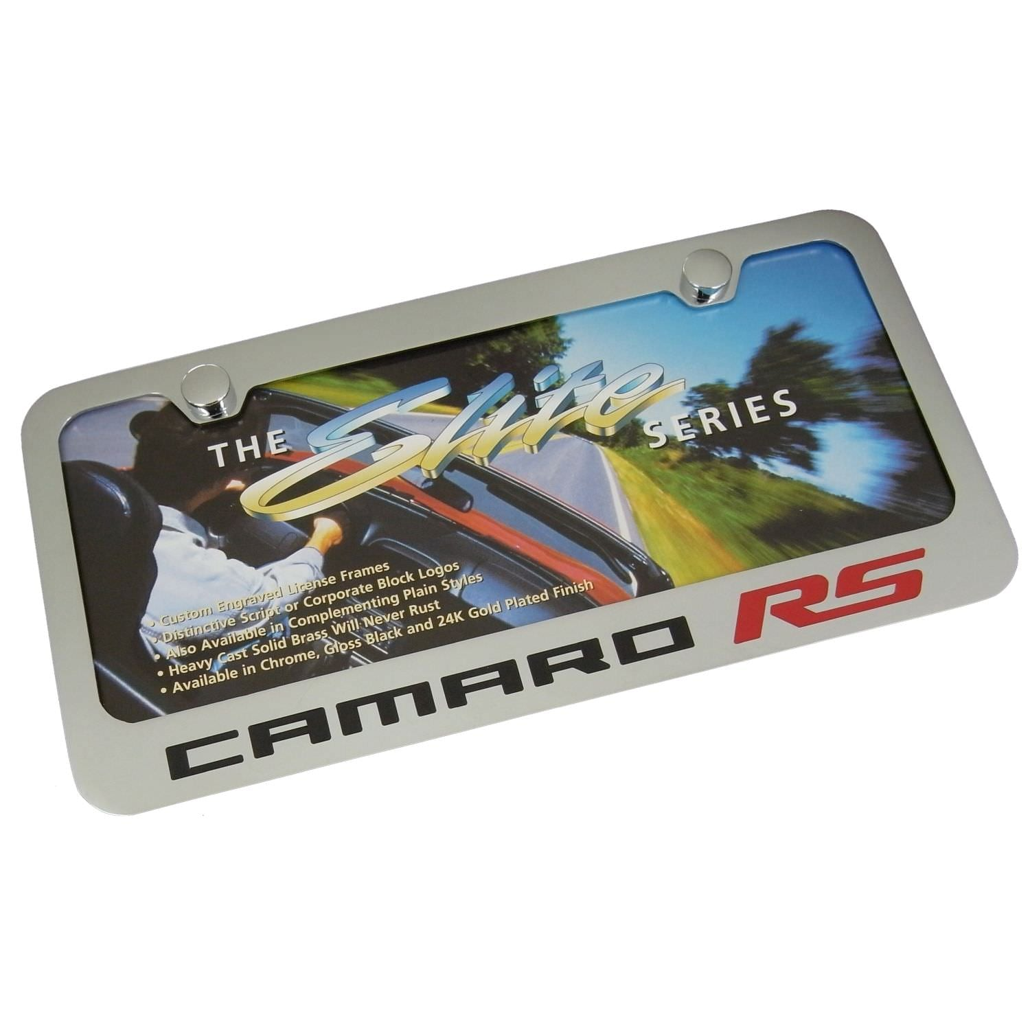 Chevy Camaro RS License Plate Frame