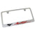 Ford Mustang Red Script License Plate Frame (Chrome) - Custom Werks