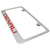 GMC Denali Red Name License Plate Frame (Chrome) - Custom Werks