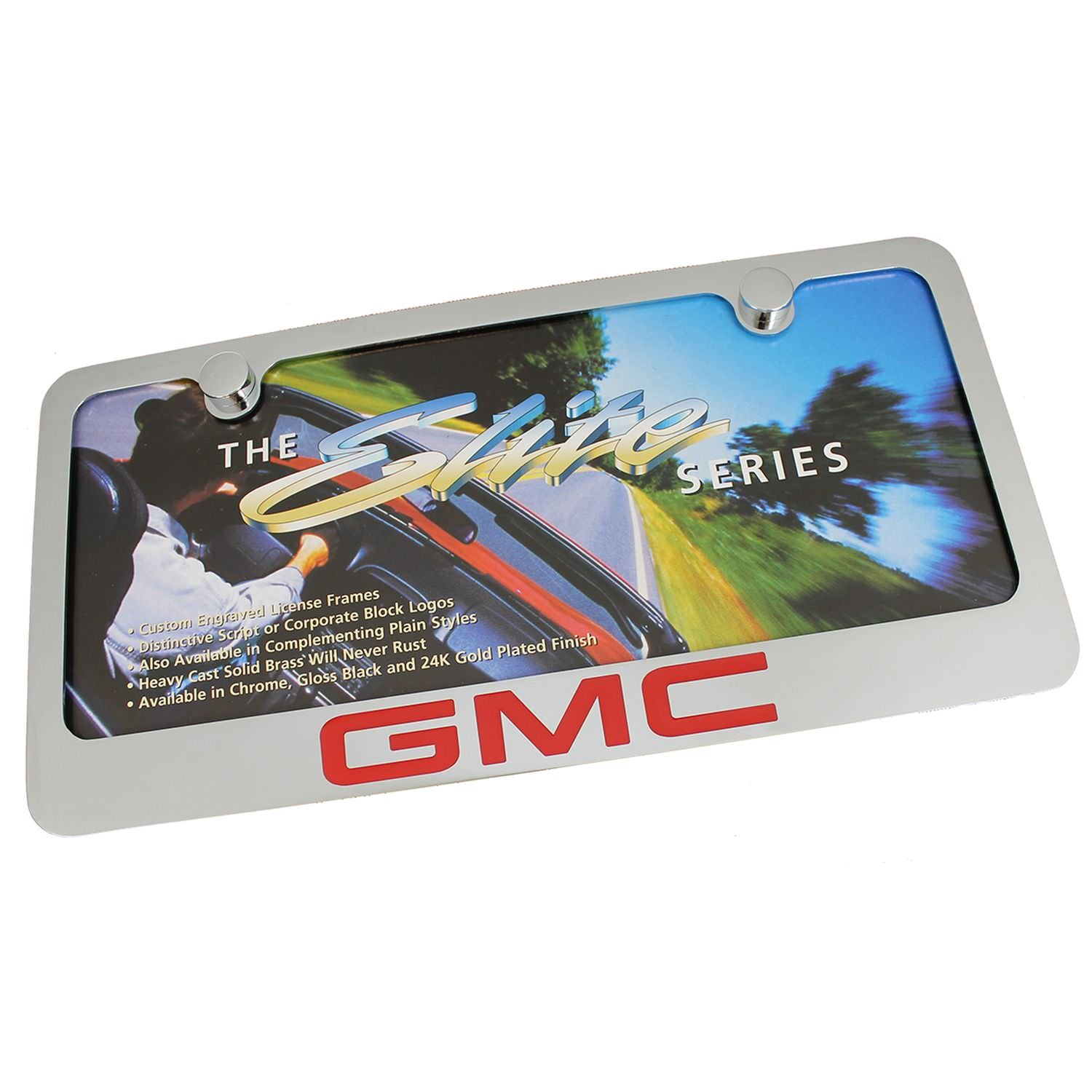 GMC License Plate Frame (Chrome) - Custom Werks