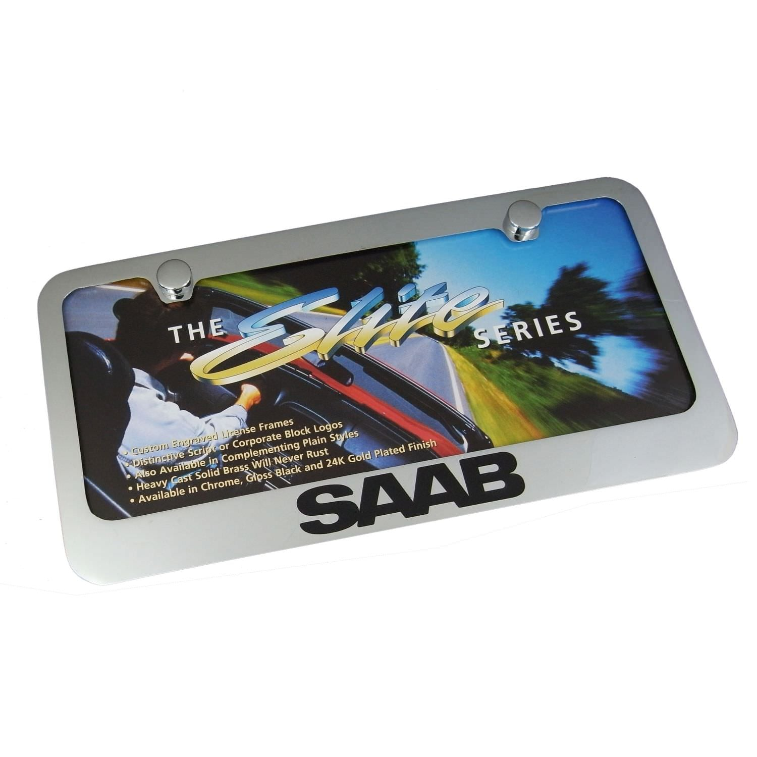 SAAB License Plate Frame (Chrome) - Custom Werks
