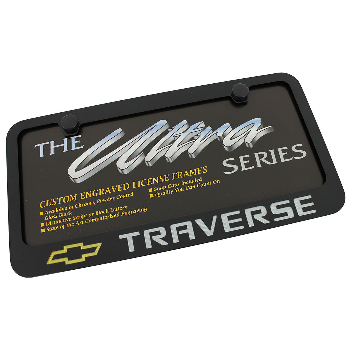 Chevy Traverse License Plate Frame (Black) - Custom Werks