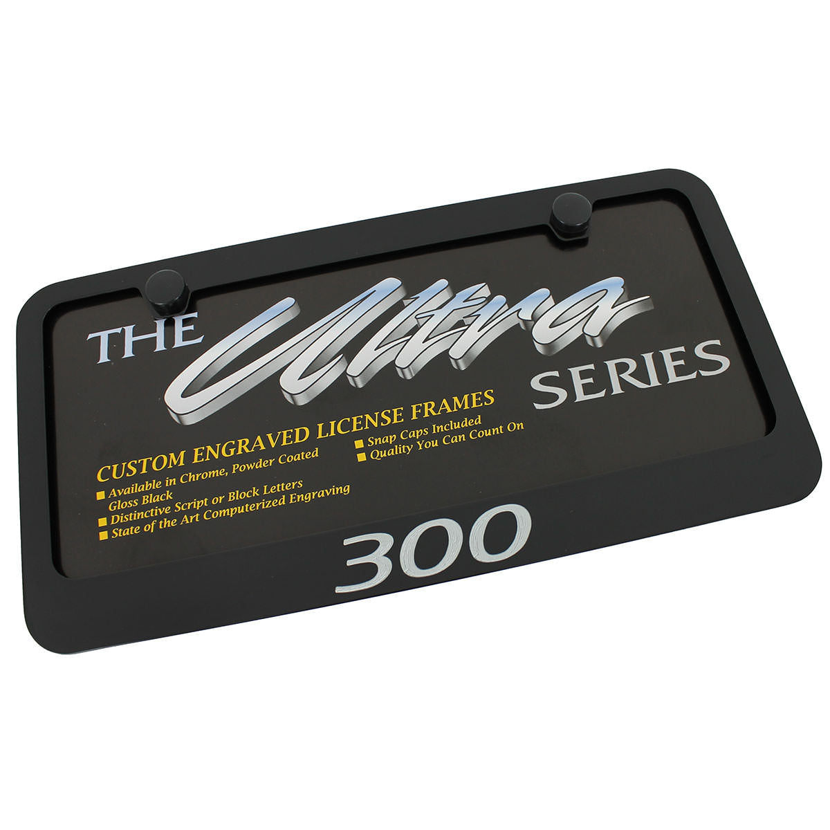 Chrysler 300 License Plate Frame (Black) - Custom Werks