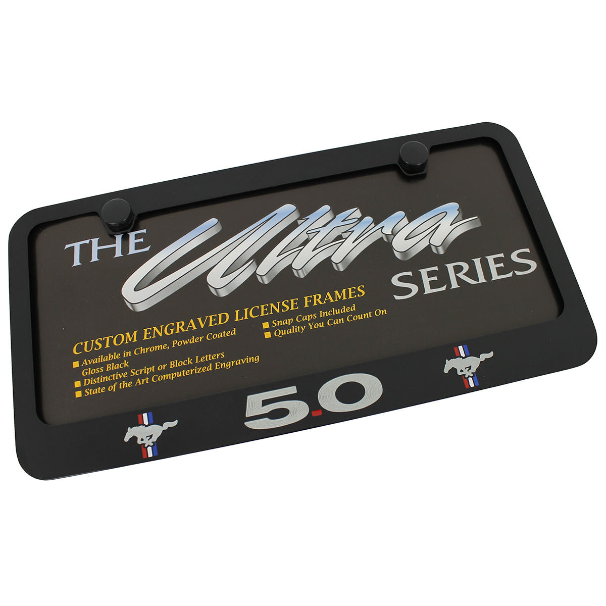 Ford Mustang 50 License Plate Frame (Black) - Custom Werks