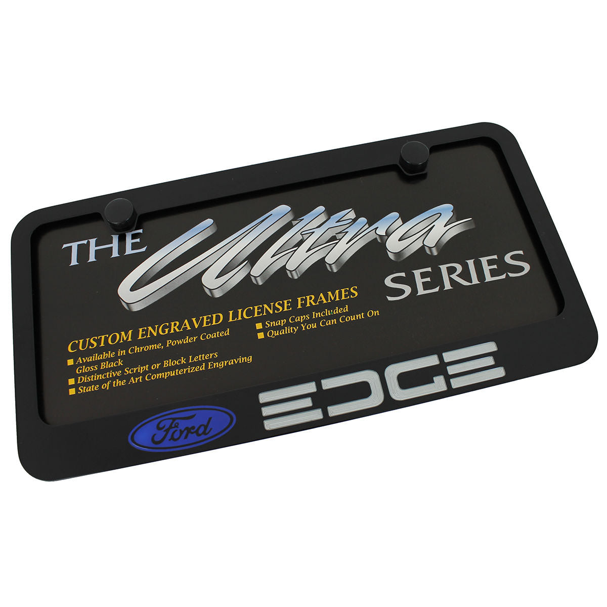 Ford Edge License Plate Frame (Black) - Custom Werks