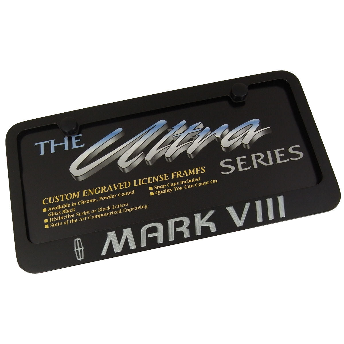 Lincoln Mark VIII License Plate Frame (Black) - Custom Werks