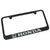 Honda Silver Logo License Plate Frame (Black) - Custom Werks