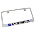 Dodge Mopar Dual Logo License Plate Frame (Chrome)
