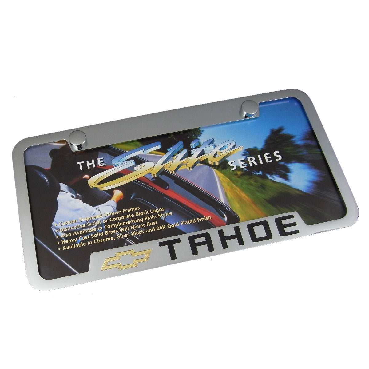 Chevy Tahoe License Plate Frame (Chrome) - Custom Werks