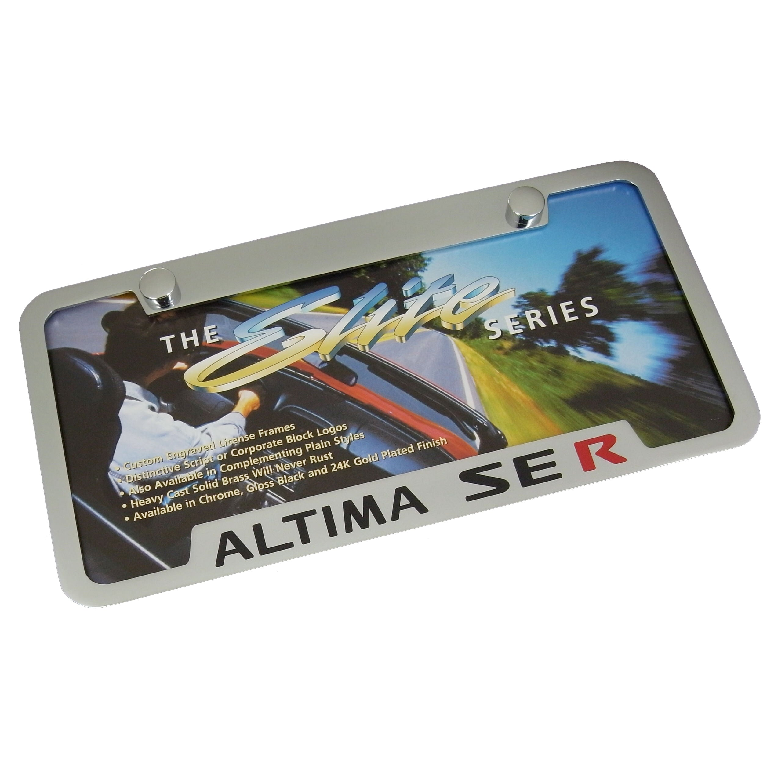 Nissan Altima SE R License Plate Frame (Chrome) - Custom Werks