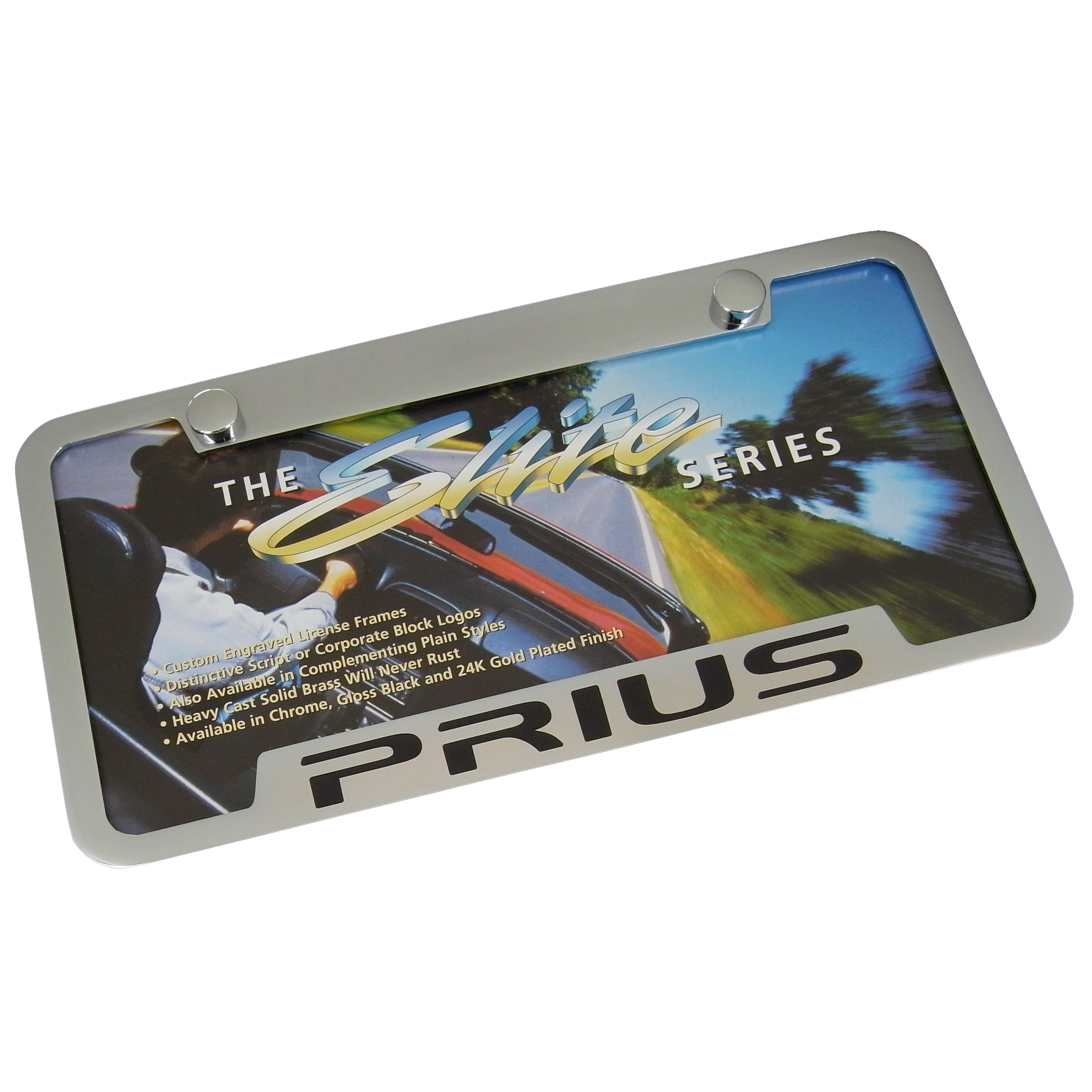 Toyota Prius License Plate Frame (Chrome) - Custom Werks
