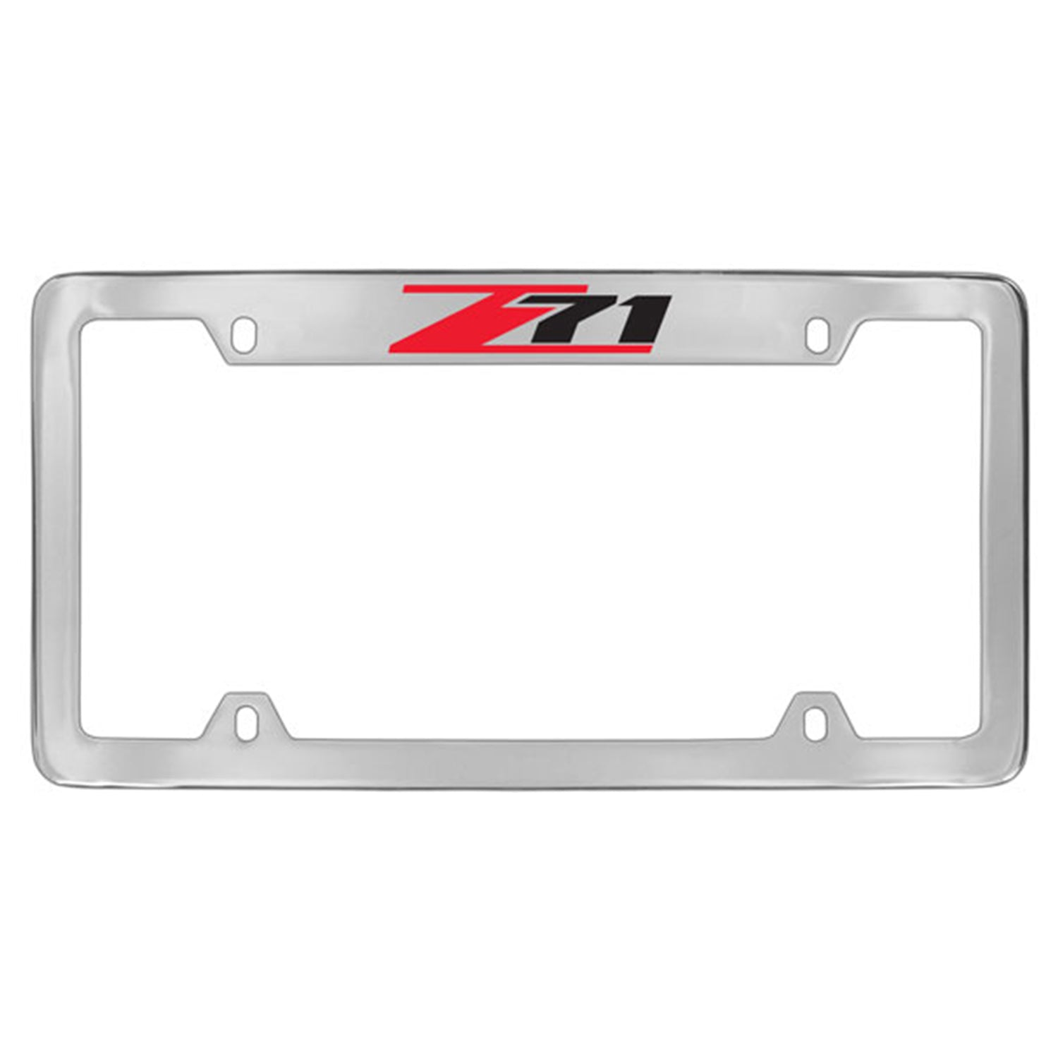 Chevy Z71 License Plate Frame With Holes 4 Holes (Chrome) - Custom Werks
