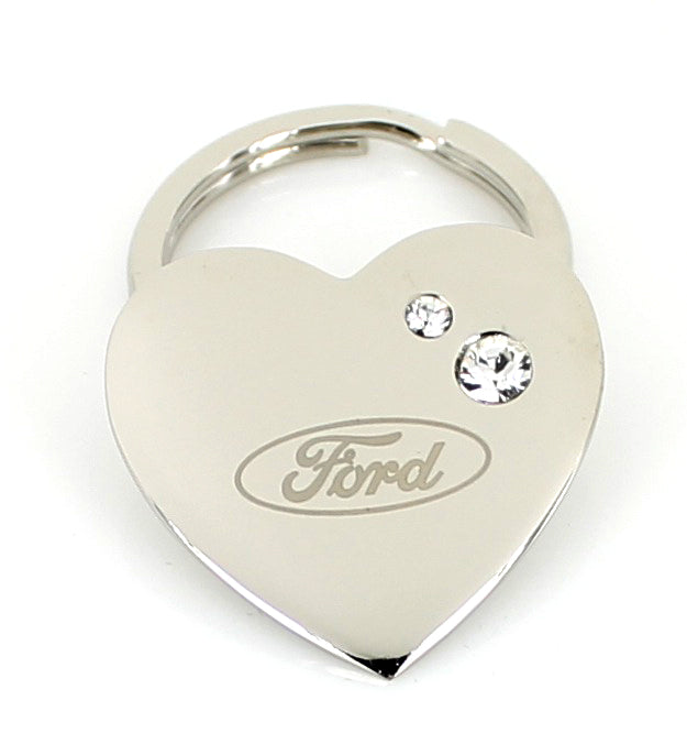 Ford Heart Shape Keychain (Chrome) - Custom Werks