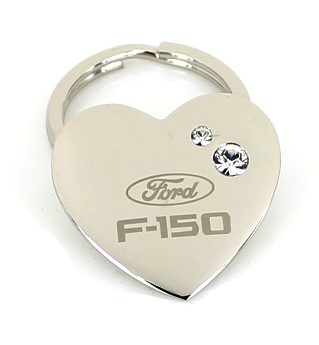 Ford F-150 Heart Shape Keychain (Chrome) - Custom Werks