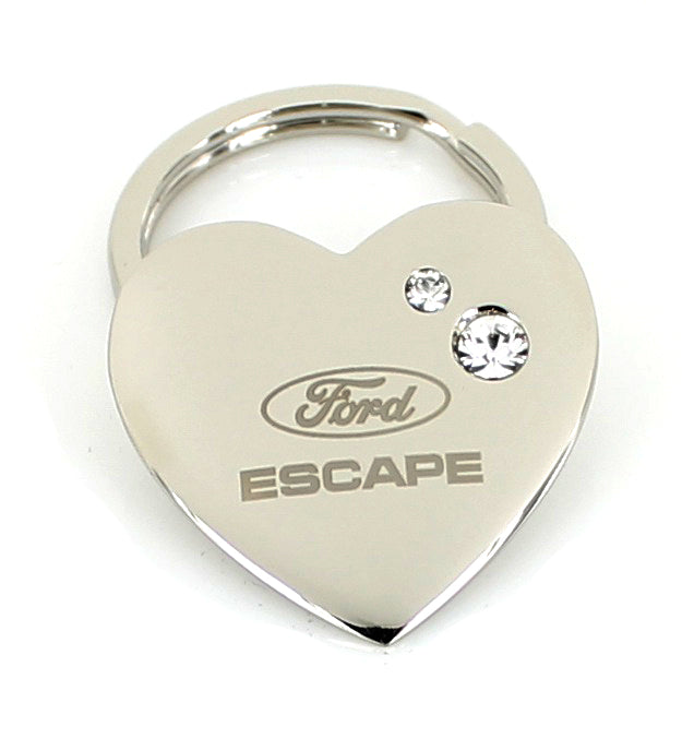 Ford Escape Heart Shape Keychain (Chrome) - Custom Werks
