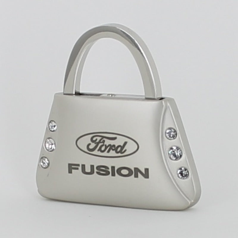 Ford Fusion Purse Shape Keychain (Chrome) - Custom Werks