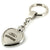Ford Edge Heart Shape Chain Keychain (Chrome) - Custom Werks