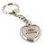 Ford Focus Heart Shape Chain Keychain (Chrome) - Custom Werks