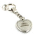 Ford Escape Heart Shape Chain Keychain (Chrome) - Custom Werks
