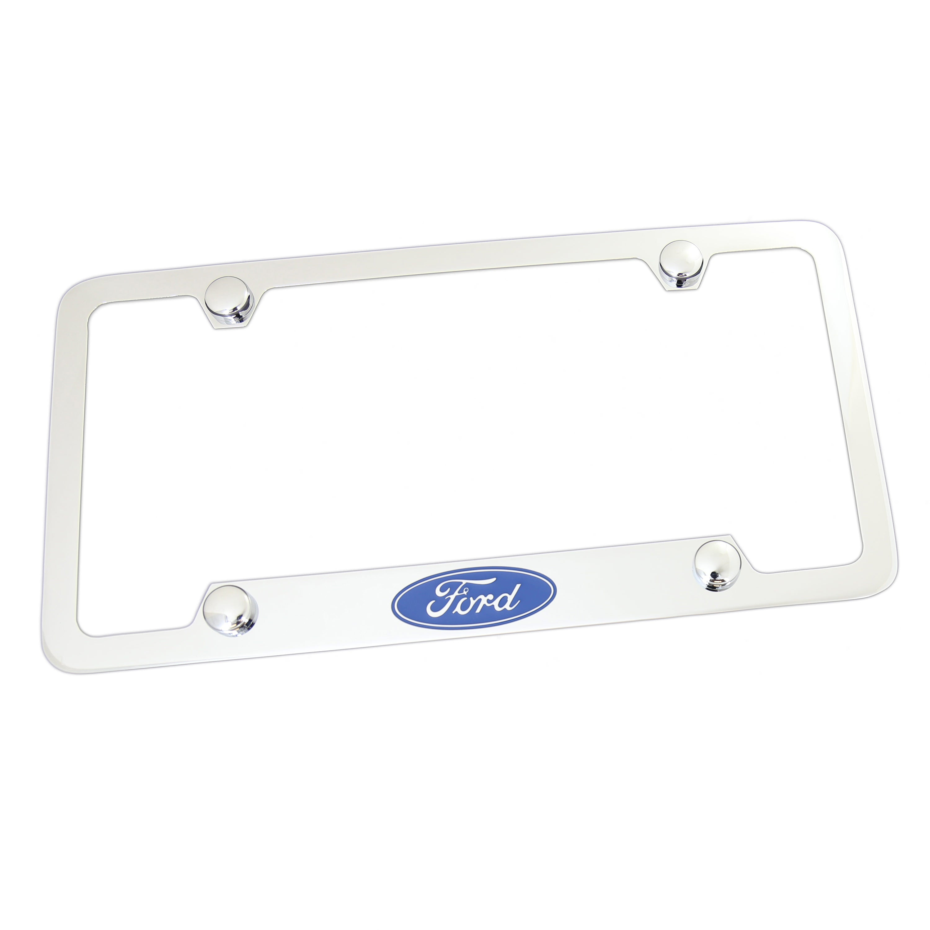 Ford License Plate Frame With Holes 4 Holes (Chrome) - Custom Werks