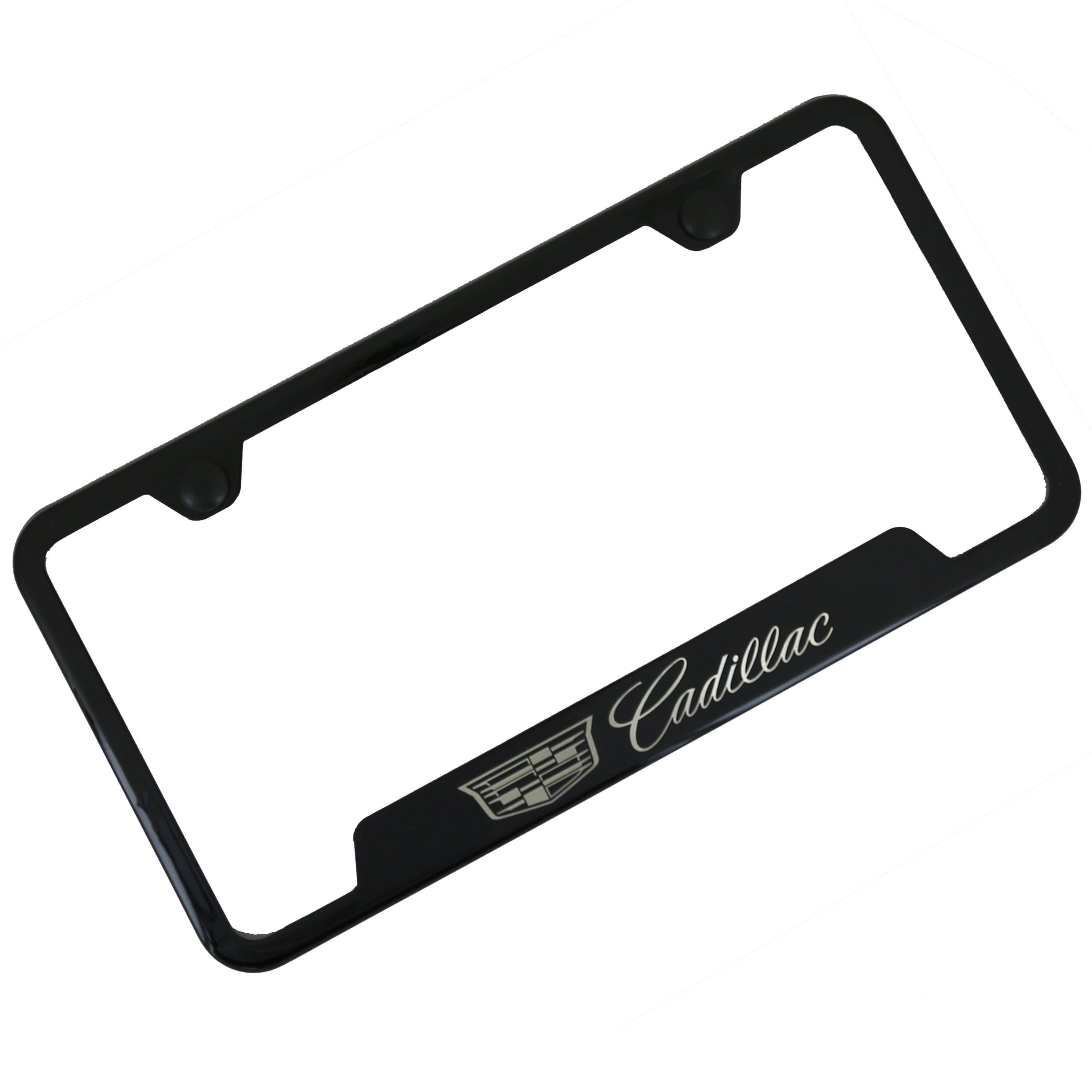 Cadillac New Logo Cut Out License Plate Frame (Black) - Custom Werks