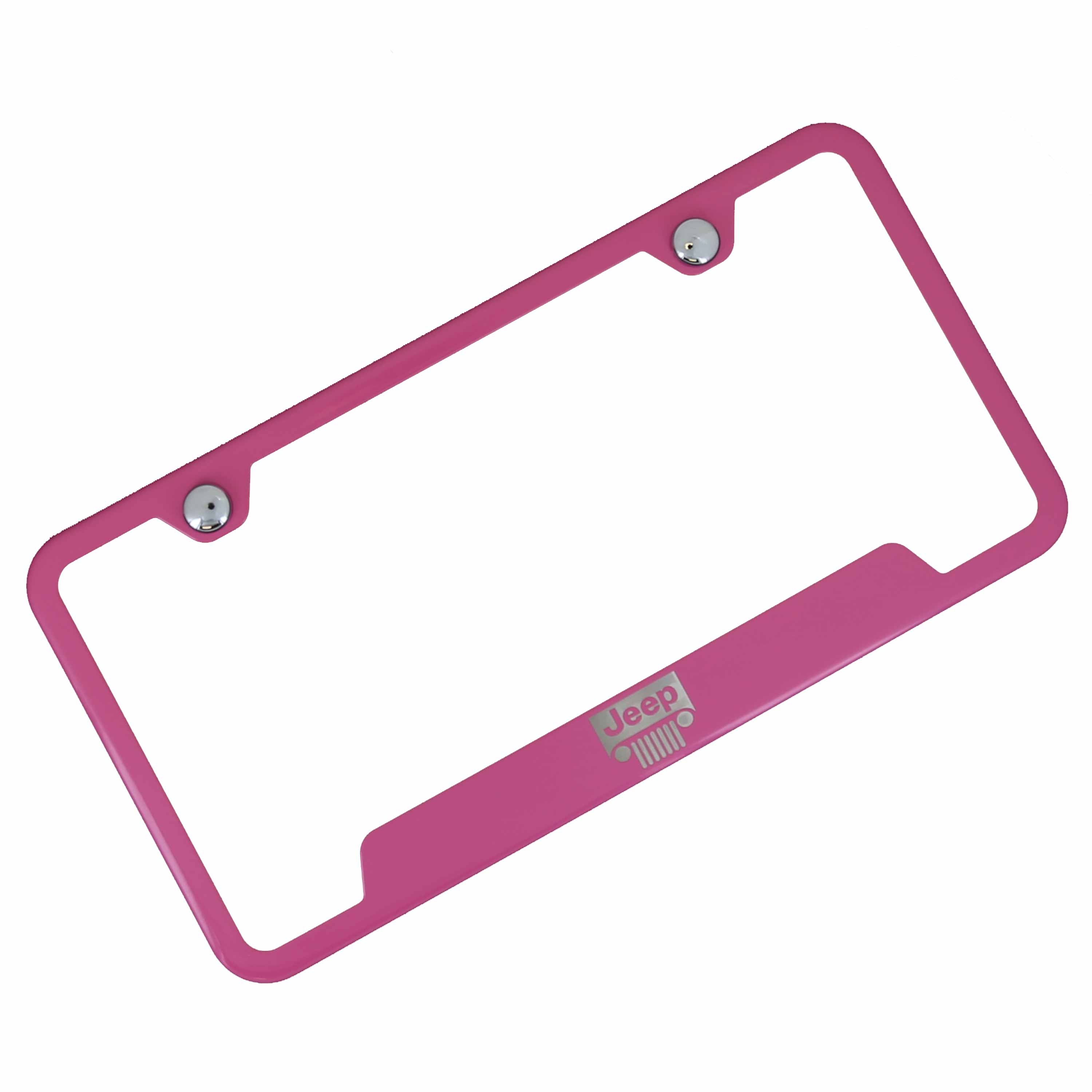 Jeep Grille Cut Out License Plate Frame (Pink) - Custom Werks