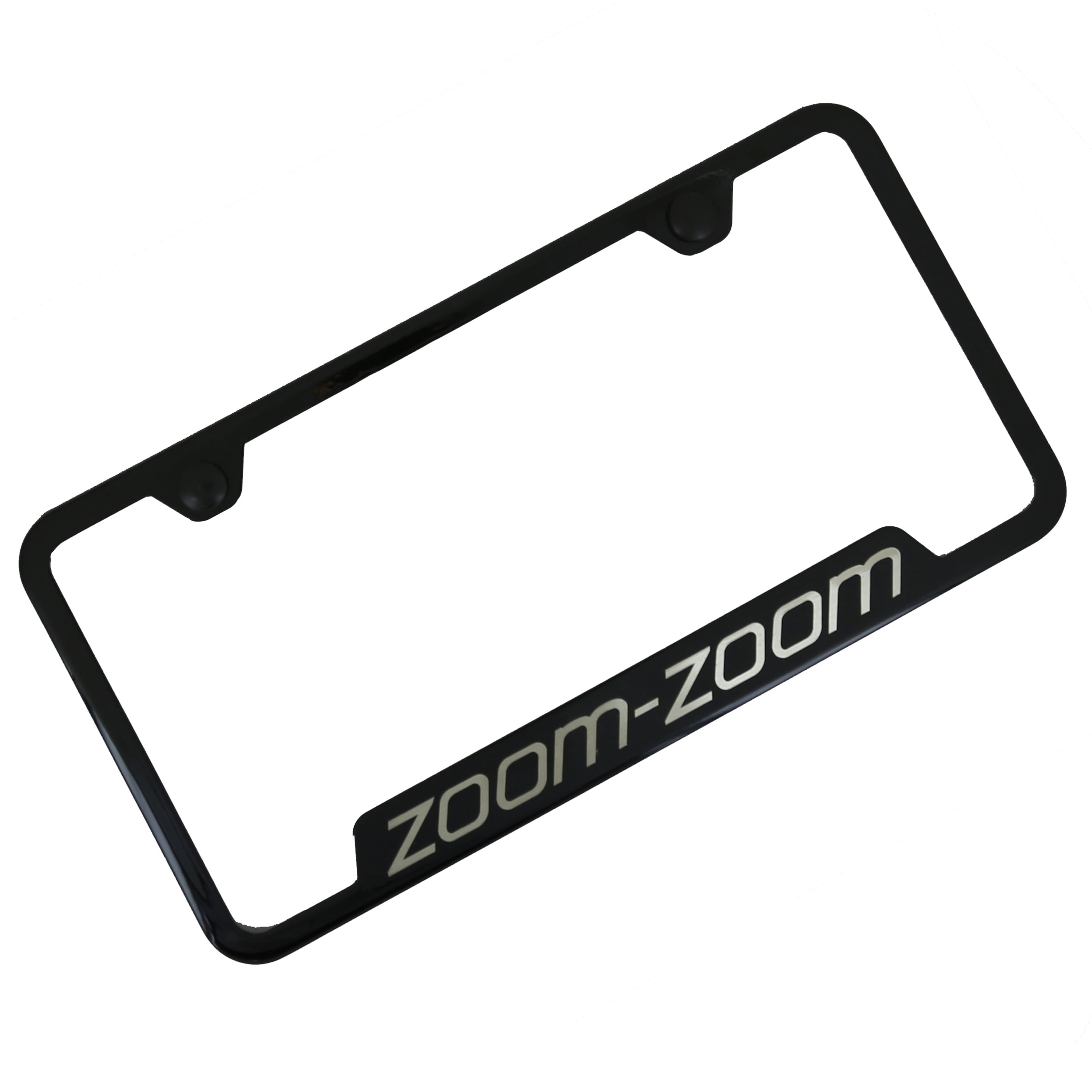 Mazda Zoom Zoom Cut Out License Plate Frame (Black) - Custom Werks