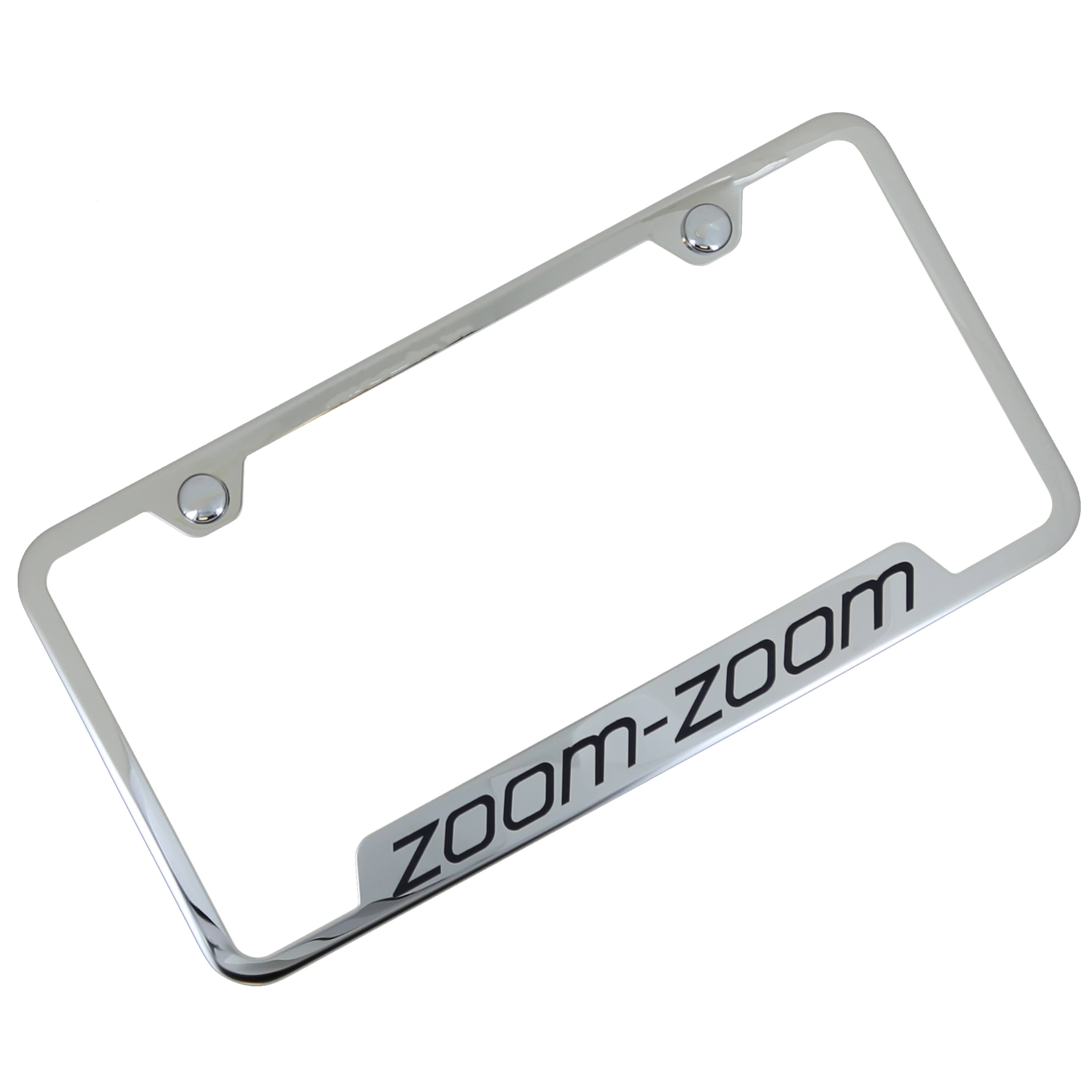 Mazda Zoom Zoom Cut Out License Plate Frame (Chrome) - Custom Werks