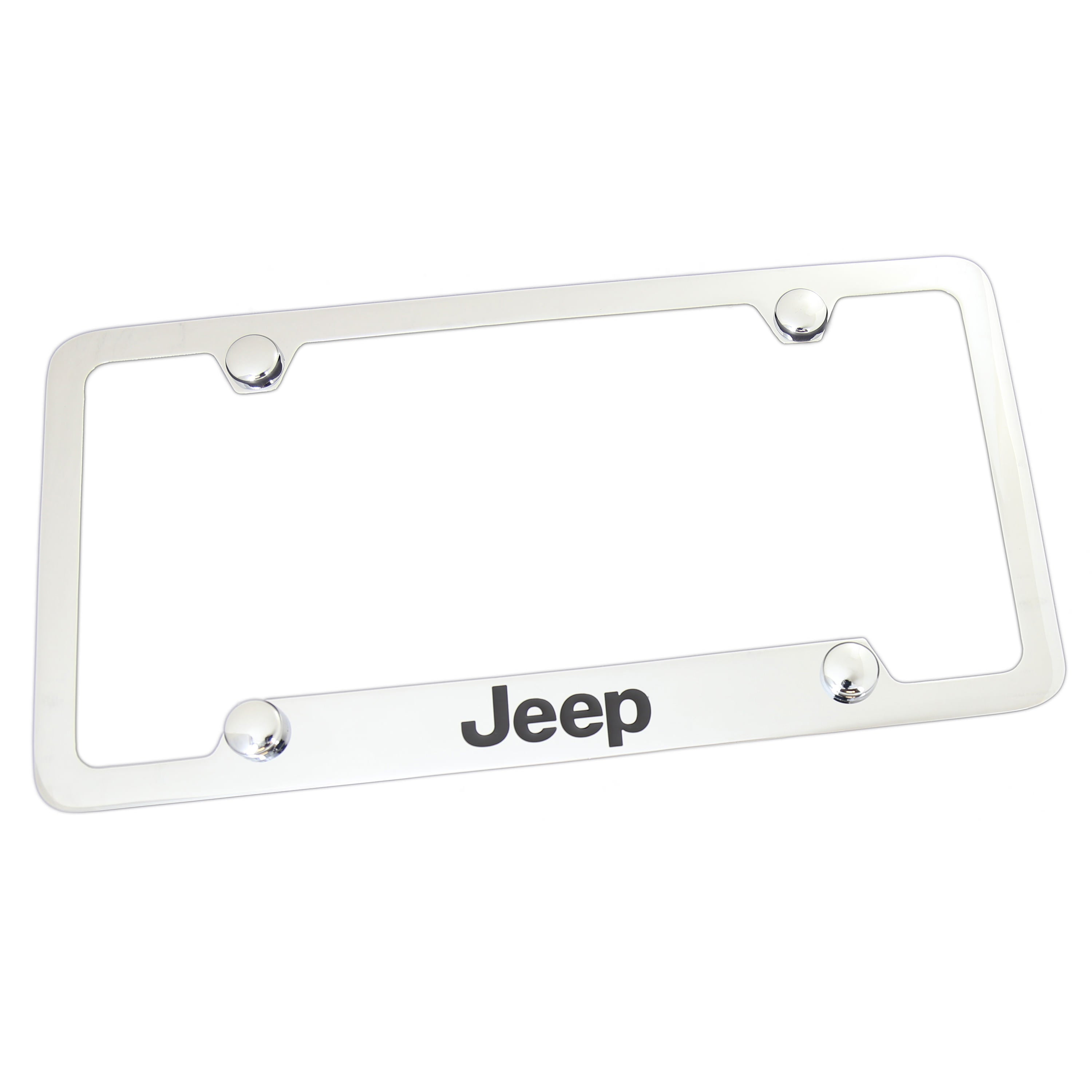 Jeep License Plate Frame With 4 Holes (Chrome) - Custom Werks