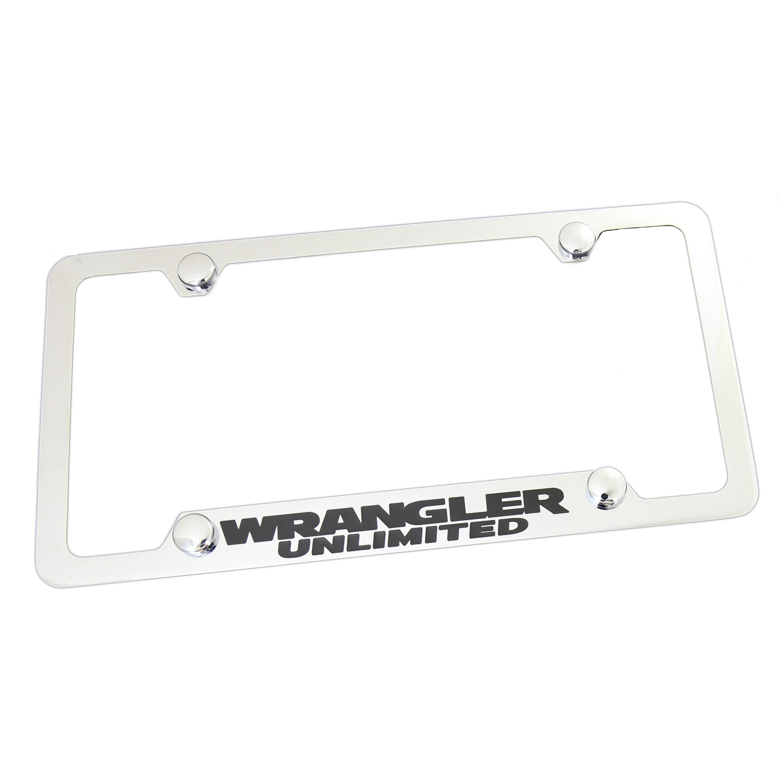 Jeep Wrangler Unlimited License Plate Frame With 4 Hole (Chrome) - Custom Werks