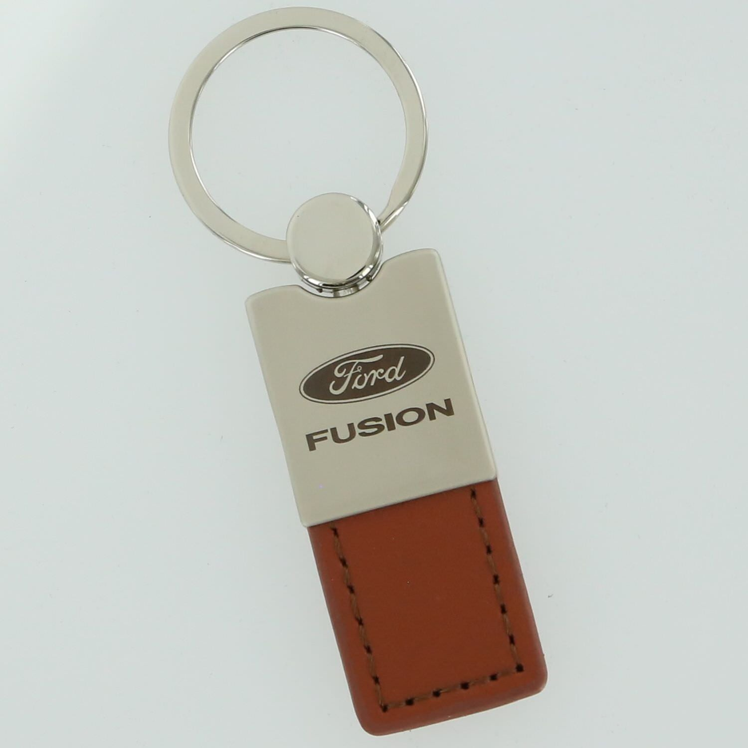 Ford Fusion Leather Key Ring (Brown) - Custom Werks