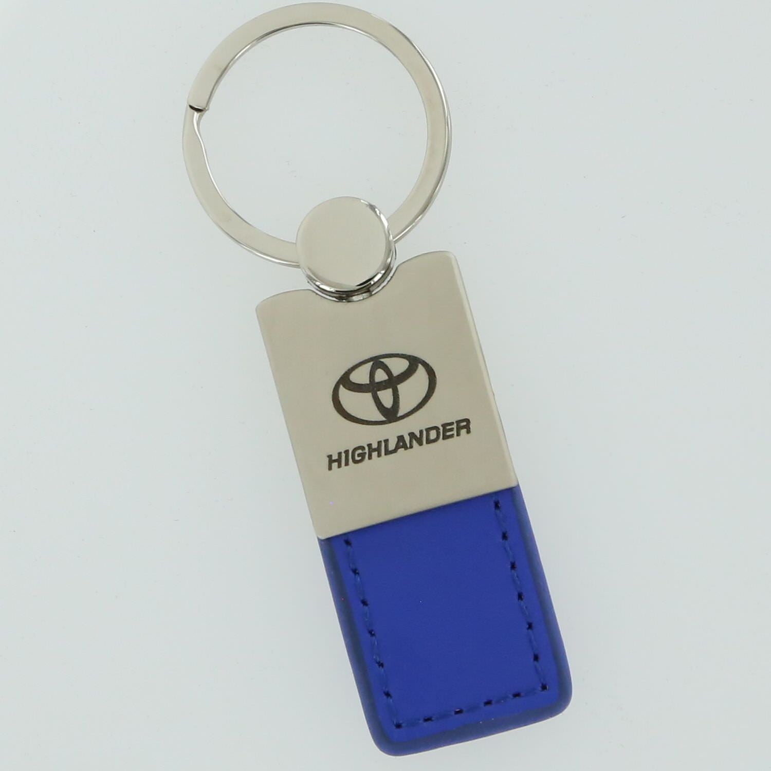Toyota Highlander Leather Key Ring (Blue) - Custom Werks