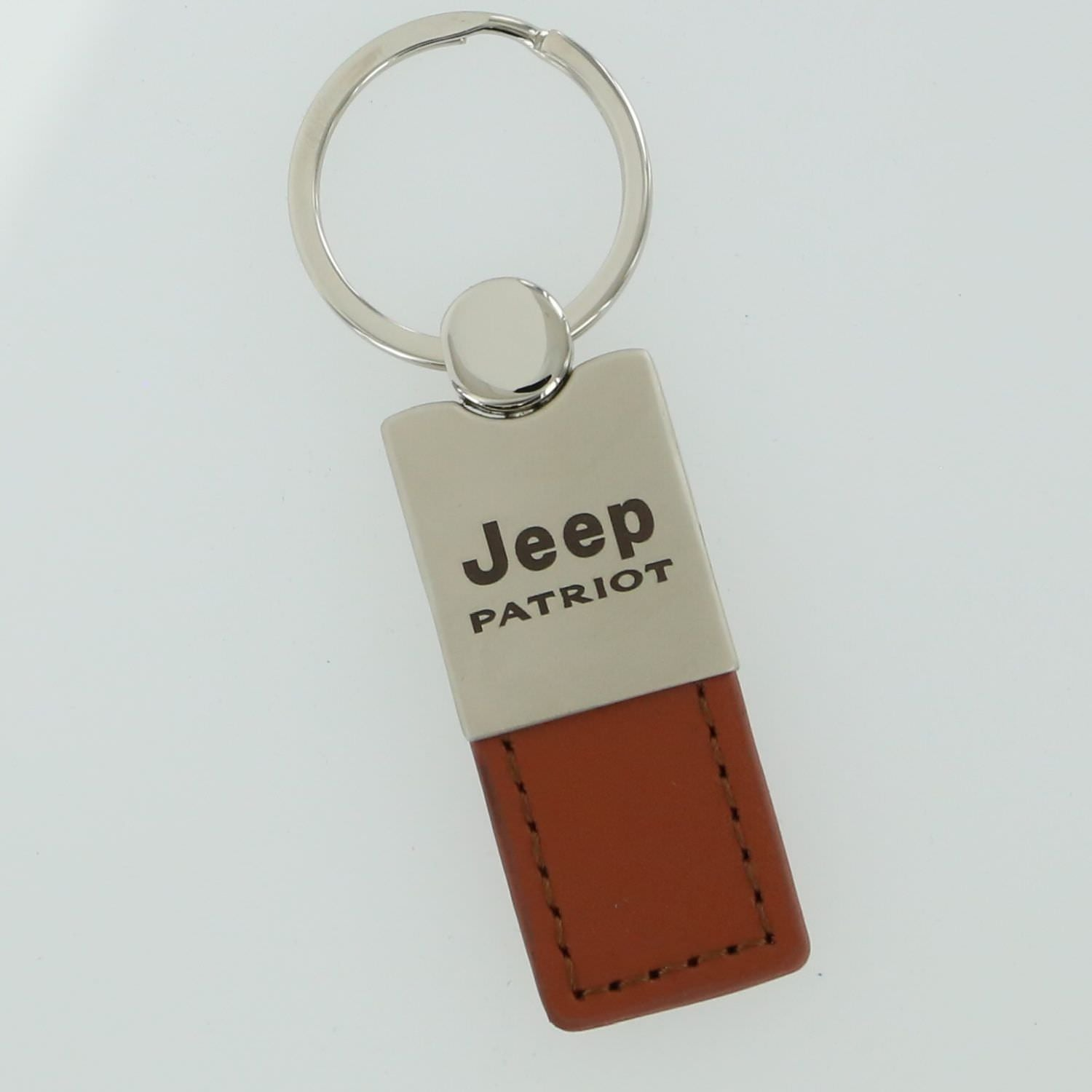 Jeep Patriot Leather Key Ring (Brown) - Custom Werks